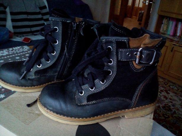 Ботинки кожа для мальчика 32р