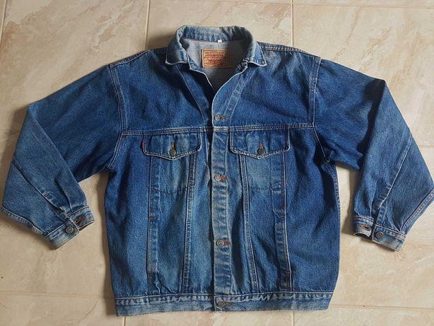 Kultowy Levis dla motocyklisty.gruby jeans szer 2x63cm lata:80
