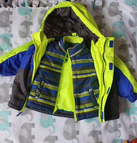 Оригінальна куртка-трансформер 3 в 1. на 12 місяців