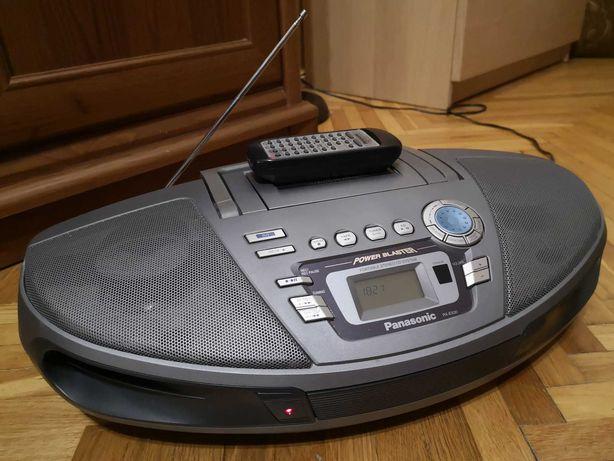 Radiomagnetofon z CD - Panasonic RX-ES30 - Komplet, Pilot, Super stan!