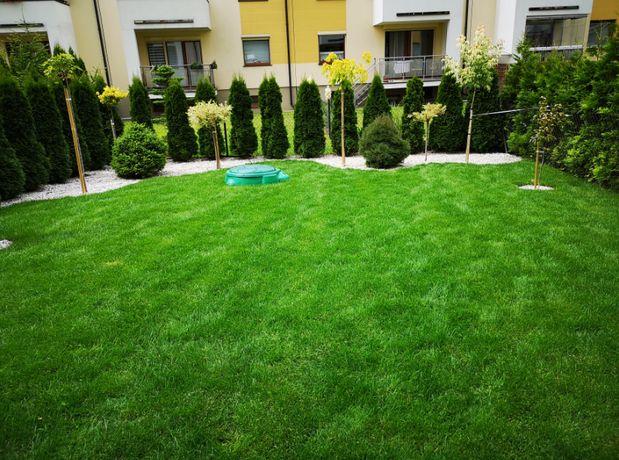 Usługi ogrodnicze trawniki, wertykulacja, glebogryzarka, trawa z rolki