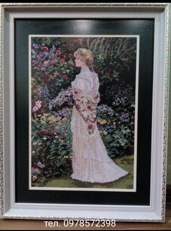 """Вышитая картина """"В её саду"""""""