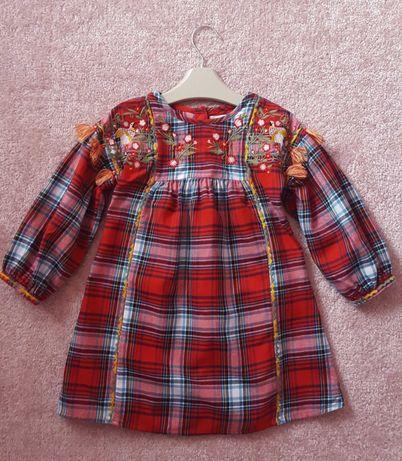 Sukienka świąteczna Next czerwona rozm 104 jak Nowa!