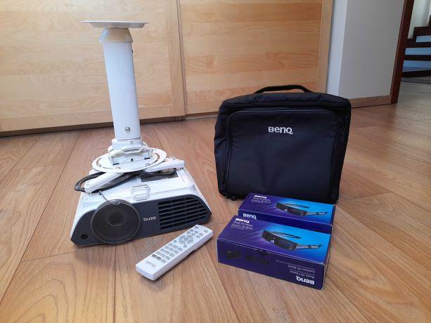 Projektor rzutnik Benq W703d ekran, okulary, uchwyt