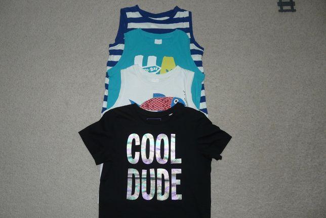bluzeczka r. 116/122 C&A efekt połysku, koszulka,t-shirt,top