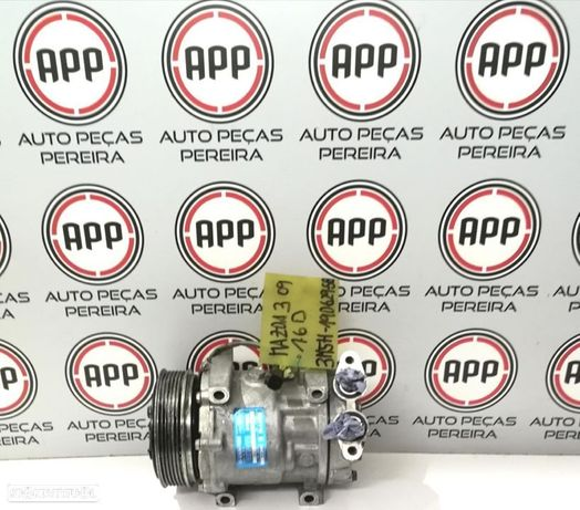 Compressor ar condicionado Mazda 3 de 2009 1.6D referência 3M5H-19D629SB.