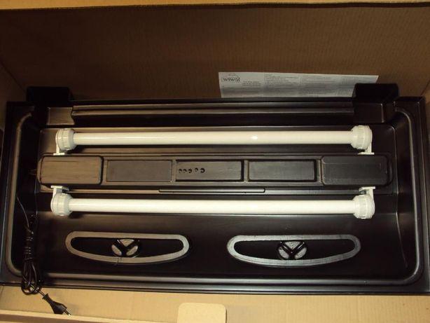 Porywa prosta 80cm x 35cm czarna dwie świtlówki T8