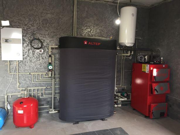 Установка  Т топлевных   газовых  котлов  монтаж  отопления дымоходов