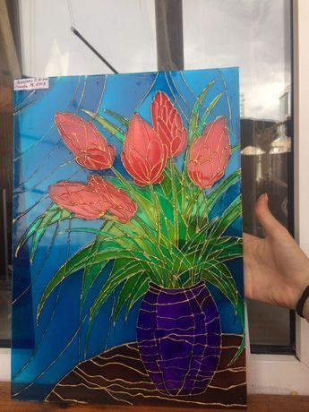 Продам Витраж цветы