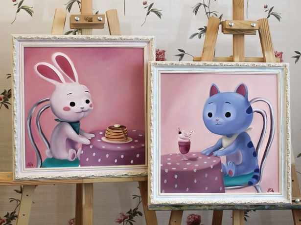 Картины маслом для детской, в детскую, с мультика «Ральф 2», подарок