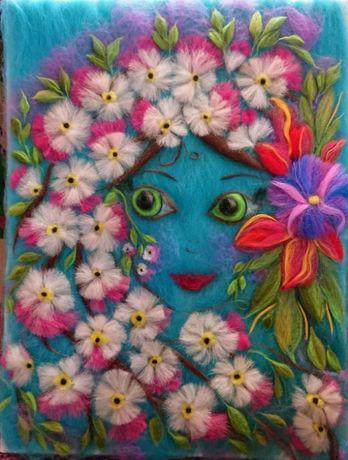 Картина вовняна (шерстяна) акварель Панна Весна