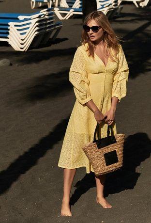 MONNARI Kobieca ażurowa sukienka midi