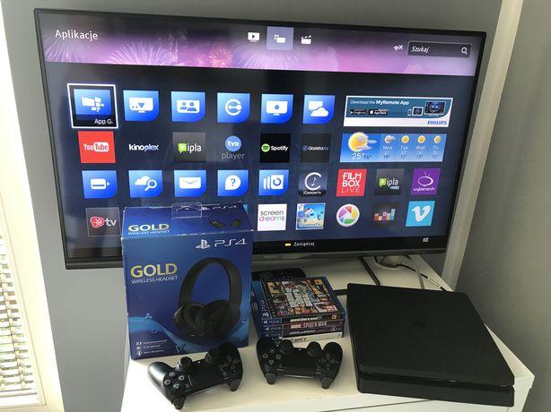 PlayStation 4 Slim 1TB (kompletny zestaw)