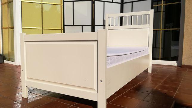 łózko białe 90x200 materac stelaż kanapa fotel biały hemnes ikea