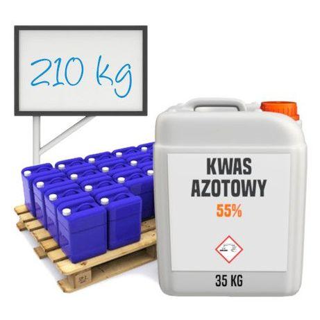 Kwas azotowy 55 % półpaleta 210 kg