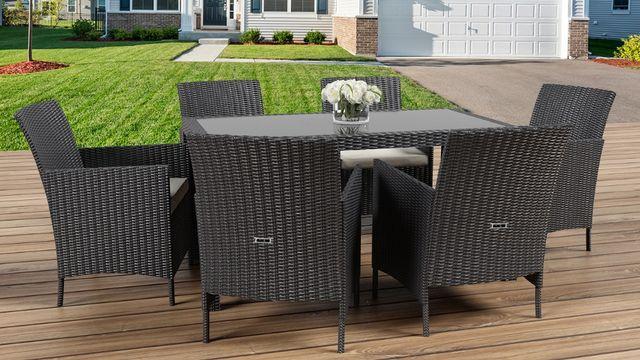 Набор садовой мебели Ротанг Столовый комплект на 6 персон из ротанга