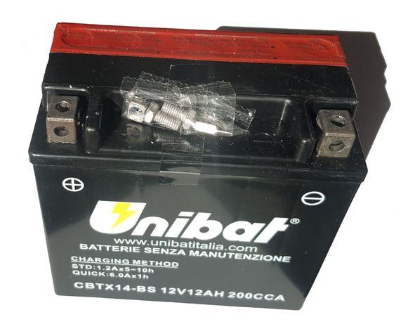 Akumulator Unibat AGM CBTX14-BS YTX14-BS ETX14-BS 12Ah 200A 12V NOWY
