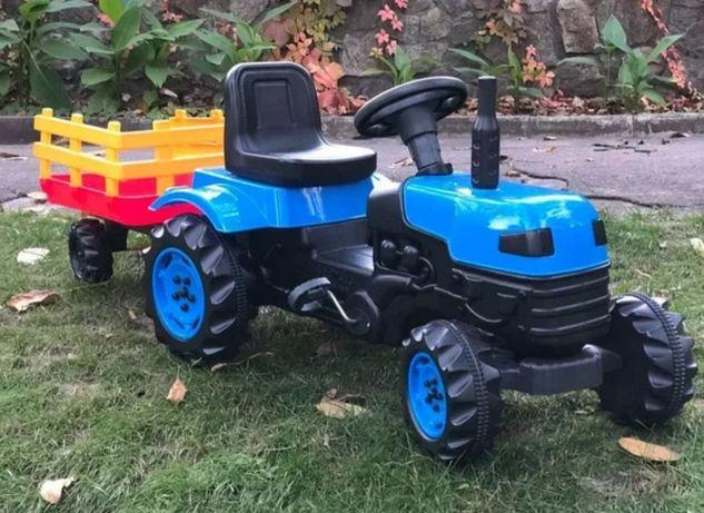 Турция! Трактор педальный на педалях с прицепом, цепной
