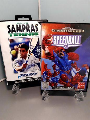 Jogos de desporto para a Sega Mega Drive: Pete Sampras e Speedball 2