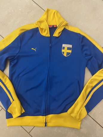 Puma Sverige, bluza reprezentacji Szwecji vintage unikat r. M
