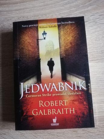 Książka Jedwabnik, Robert Galbraith, kryminał trzymający w napięciu