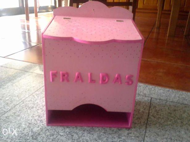 caixa para fraldas
