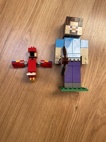 Lego Minecraft 21148 Steve z papugą
