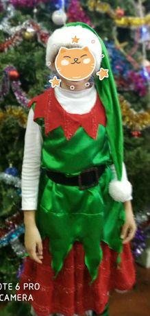 Новогодний костюм эльфа для девочки