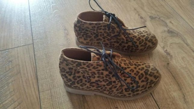 Buty dziewczęce wiosenne w panterke 25 - 26