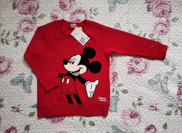 Nowa bluza H&M Myszka Mickey Miki r. 92