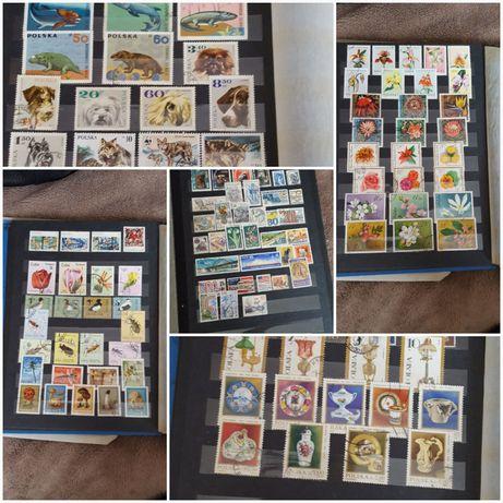 klaser ze znaczkami kolekcja znaczków pocztowych znaczki 19 kart