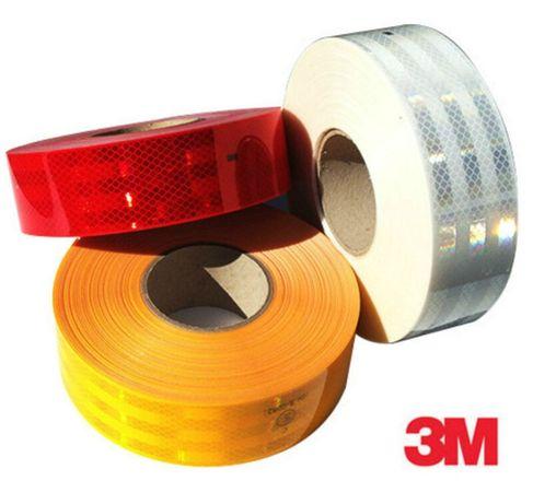 3М светоотражающая самоклеящаяся лента красная желтая белая оригинал