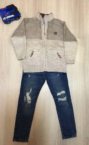 Штаны zara и свитер на 104р.