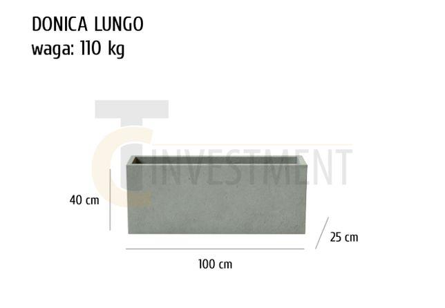 Donice betonowe ogrodowe tarasowe 100x25x40 - Duży wybór donic