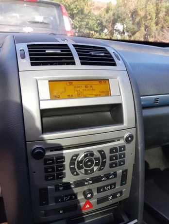 peugeot 407 wyświetlacz radia nie rozmywa się zegarek ogrzewania
