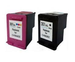 Tinteiros Compatíveis HP 301XL , 302XL Pretos e tricolor