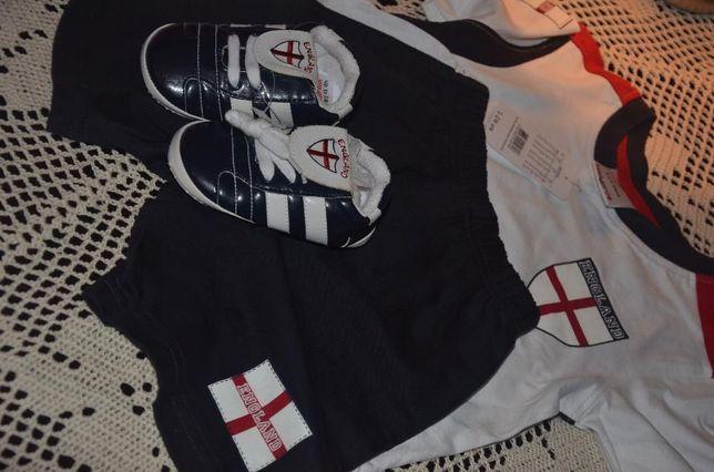 Komplet piłkarskiej reprezentacji Anglii dla chłopca- 1-1,5 roku.