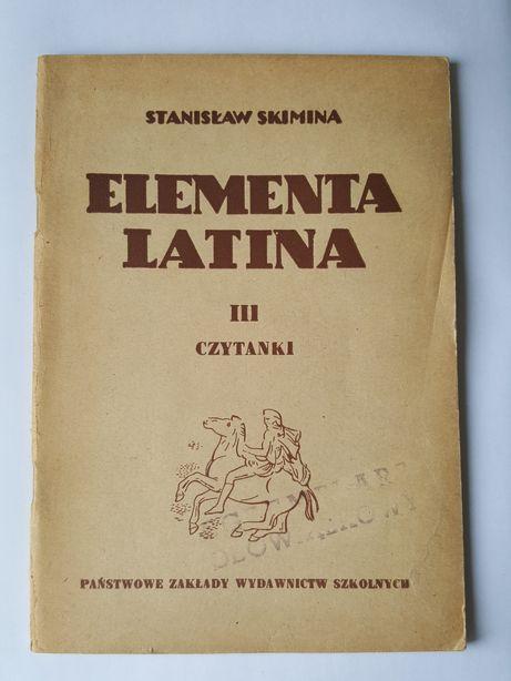 ELEMENTA LATINA III czytanki, łacina, podręcznik Stanisław Skimina