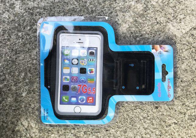 """Braçadeira para Smartphone Universal 5.5"""" - Ajustável - Desporto/etc"""