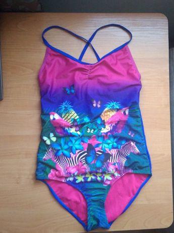 Jednoczęściwoy kolorowy strój kąpielowy S (36), motyw zwierzęcy