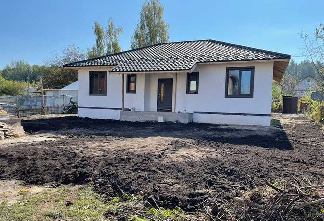 Одноэтажный дом 105 кв.м. под лесом с. Здоровка (Васильков)
