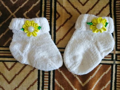 Вязаный носочки тапочки