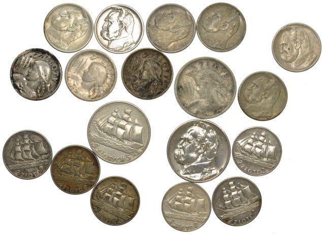 Skup monet srebrnych Polska 2 RP,  PRL Niemcy, Rosja itp