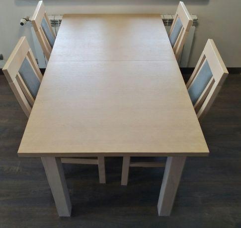 Stół rozkładany jadalny plus 4 krzesła