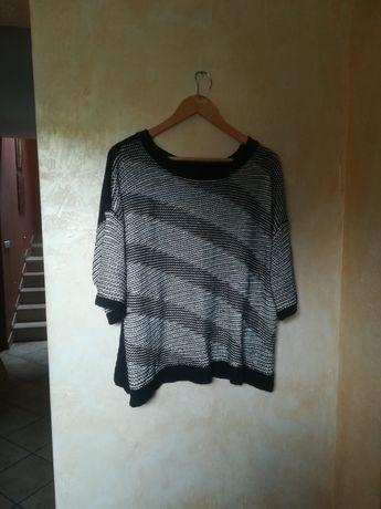 Sweter George czarno biały nowy over size