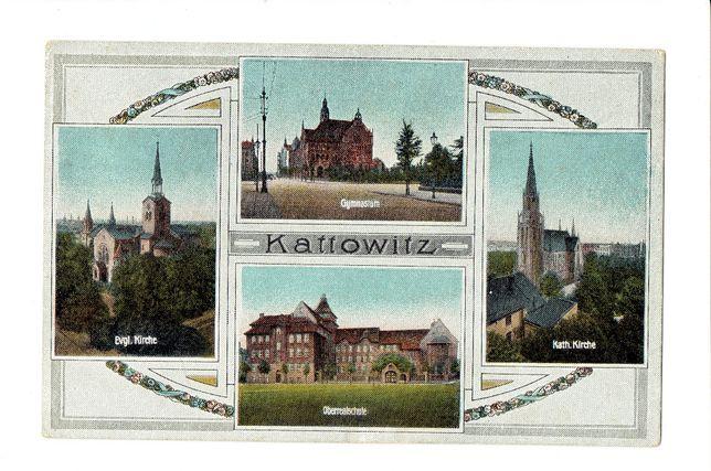 Kattowitz Katowice - pocztówka 1920 r.