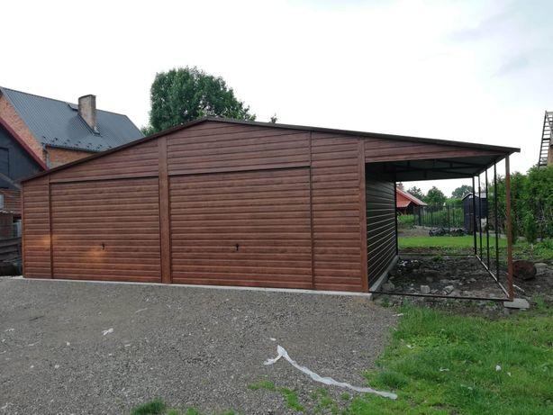Garaż blaszany premium drewno podobny 6x6 7x6 7x7 9x6 6x5 4x6 6x5.80