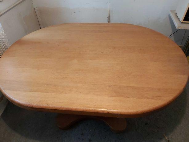 Solidny stół dębowy160x120x6 cm.