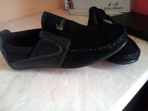 Срочно туфли натуральная замша и кожа 35р для мальчика