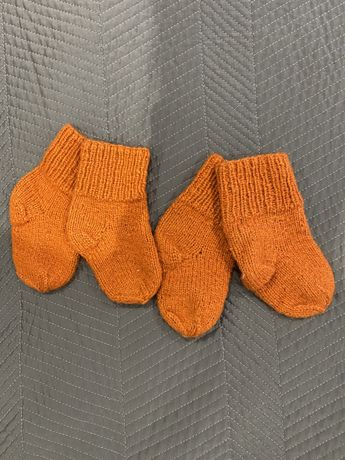 Носочки вязаные на ножку 10-12 см